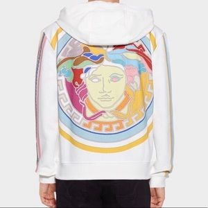New $1225 Versace POP Limited Edition Hoodie White